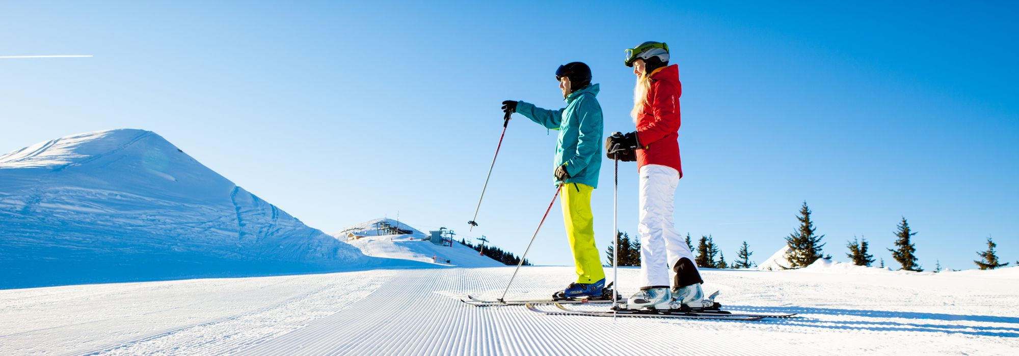 Skiing holidays for the whole family in a winter wonderland