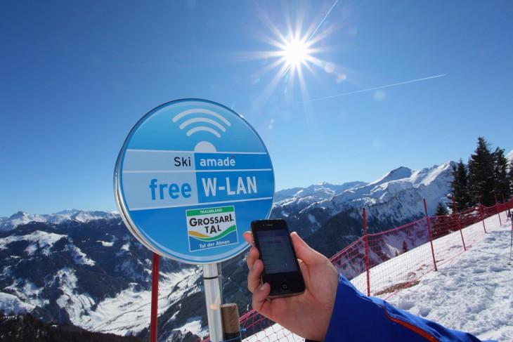 W-Lan Hotspots im Skigebiet