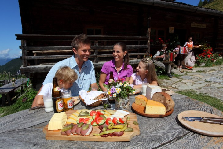 Delicious snacks at a mountain hut