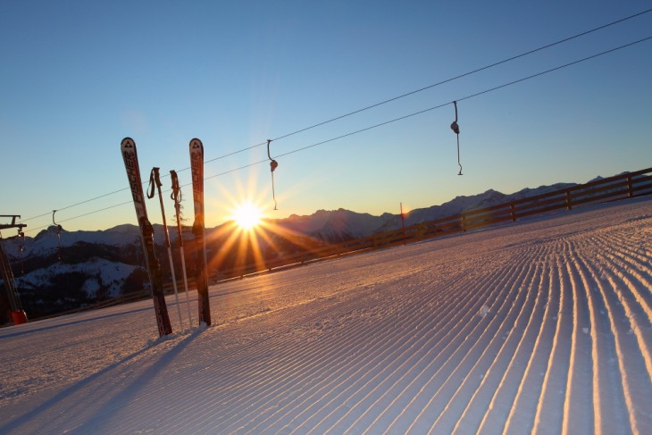 Sunrise in the ski area