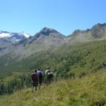 Der Große Bär - Berg in der Mitte - ist das Ziel