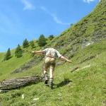 Bergstock, auch Sportgerät zur Schulterentlastung