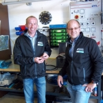 Elektrikerwerkstätte mit Alois und Gerhard