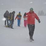 Im Schneesturm zur Probe