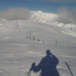 Der Loosbühel, 1.984 m, ist erreicht, im Hintergrund das Gründegg