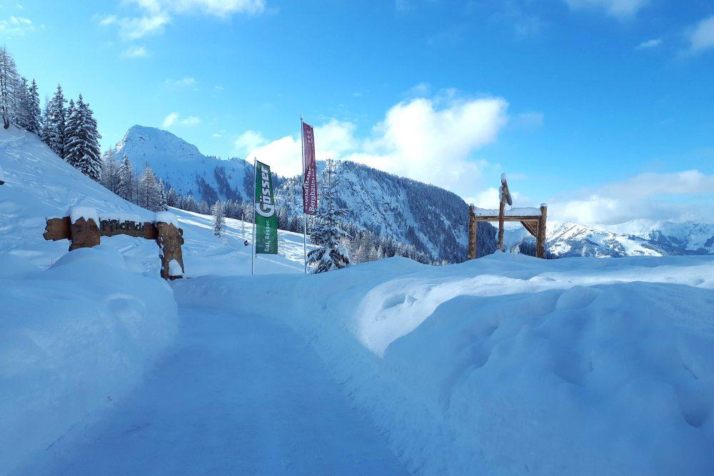 Traumhafte Winterlandschaft auf der Loosbühelalm im Großarltal