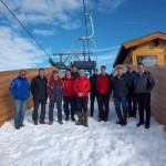Behördenvertreter, Firmenvertreter, Bergbahnenmitarbeiter bei der Betriebsbewilligungsverhandlung