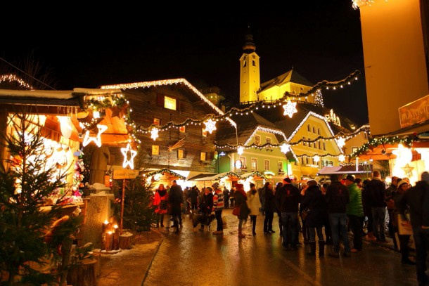 Idylle pur - der Marktplatz von Großarl