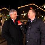 Bernhard Schausberger (ORF) beim interview mit Peter Hettegger (Hotel Edelweiss Großarl, Geschäftsführer der Großarler Bergbahnen)