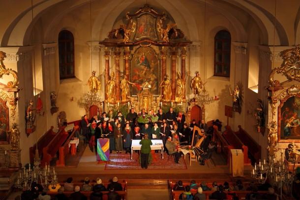 Adventsingen in der Pfarrkirche Großarl, Kirchenchor, Andachtsjodler
