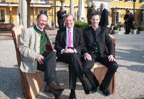 Leo Bauernberger (MBA, Geschäftsführer SLTG), Dr. Wilfried Haslauer (Landeshauptmannstv.), Peter Unterkofler