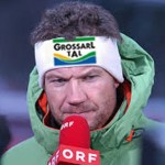 Armin Assinger bei der Moderation eines Weltcuprennens