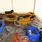 Mehrere hundert Meter Kabel sind zu installieren