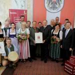 Die Pongauer Delegationen bei der Auszeichnung