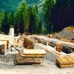 Bau Mittelstation Panoramabahn 05.06.1990