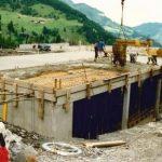 Bau Mittelstation Panoramabahn 10.07.1990