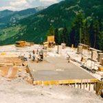 Bau Mittelstation Panoramabahn 25.07.1990