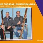 Betriebsleiter Rupert Rohrmoser und Betriebsleiter Engelbert Gschwandtl haben gleich mal die Fotobox ausprobiert, der Liftsessel stammt vom alten Doppelessellift Hochbrand © www.die-fotobox.at