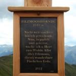 Text am neuen Gipfelkreuz am Filzmooshörndl