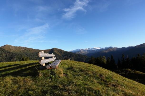 """Ein """"Logenplatz"""" nahe der Bichlalm mit Blick in die Hohen Tauern"""