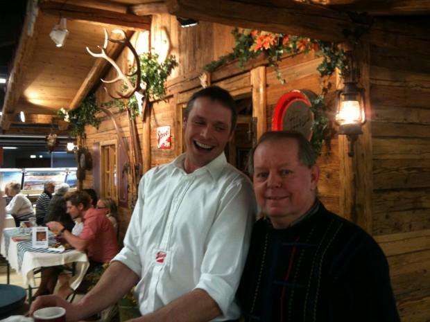 Paul und  Ingo auf der Stiegl-Alm