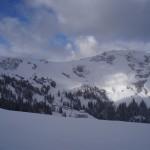 Blick auf die Skischaukelverbindung ins Gasteinertal