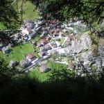 Blick vom Geocach auf Hüttschlag