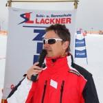 Moderator Gary Stütz beim Happy Power Lady Race