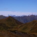 Blick über den Spielkogel zum Großglockner, rechts das Wiesbachhorn