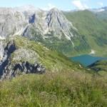 Vom Scheibenkopf überblickt man das gesamte Tappenkargebiet mit dem Tappenkarsee