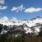Blick zum Draugstein. Nein es ist nicht Winter, trotzdem liegt ab ca. 1700 Metern eine geschlossene Schneedecke