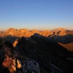 """Die Kalkspitzen der Radstädter Tauern hinter mir """"glühen"""", wie sonst nur die Dolomiten"""