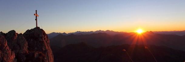 Sonnenuntergang am Draugstein