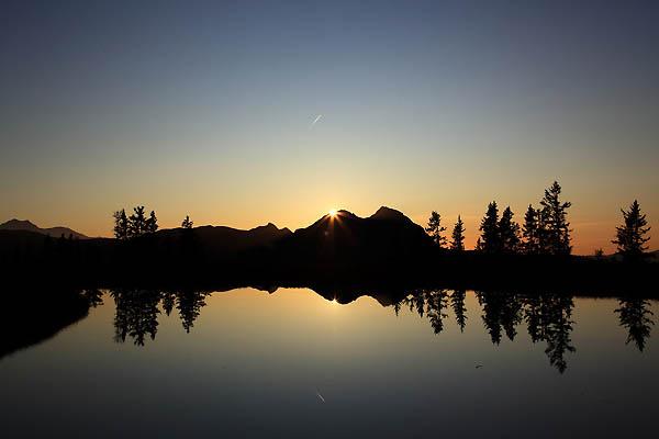 Sonnenuntergang über dem Bernkogel
