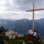 Kreuz aufstellen am Saukarkopf