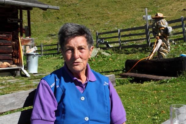 Sennerin Gitta von der Hühnerkaralm - es war heuer ihr 57. Almsommer