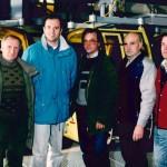 Inbetriebnahme der Panoramabahn Großarltal im Jahr 1990 mit Geschäftsführer, Betriebsleiter und Planer.