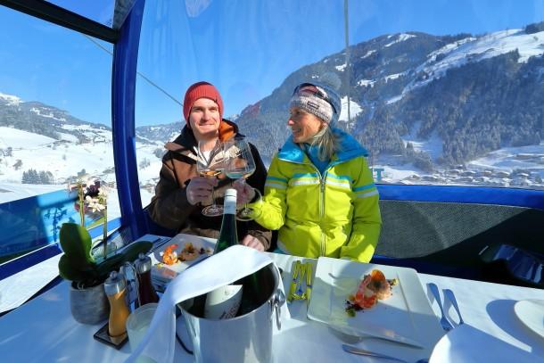 Ski- und kulinarischer Genuss - beim Gondel-Dinner