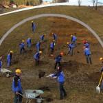 Großarltal - Die Mitarbeiter der Großarler Bergbahnen beginnen mit dem Tunnelbau ins Gasteinertal