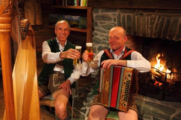 Musikanten mit Seidel Bier
