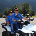 Harleytreffen Edelweiß - Hans Hettegger mit Sohn Daniel