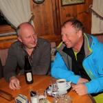 Hüttschlags Bürgermeister Hans Toferer mit Moderator Harry Prünster, der immer einen Witz auf Lager hat.