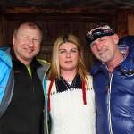 Harry Prünster mit Anita und Sepp Knapp auf der Saukaralm