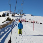 Harry testet den neuen Tellerlift an der Panoramabahn-Bergstation