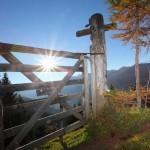 Die Sonne steht noch tief - am Weg zur Gerstreitalm