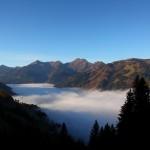 Seltenes Bild: Nebel über´m Großarltal