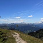 Blick vom Heukareck ins Großarltal und die Hohen Tauern