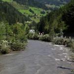 An der Einmündung in die Großarler Ache kam es am Freitag zu Überflutungen