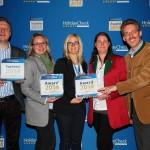 Preisüberreichung mit Verena Keimer (Head of Offline Marketing & CRM bei HolidayCheck)