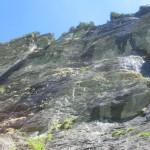 Anstieg zum Klettersteig